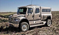 SportChassis P4XL Clinton, Okla.-based SportChassis turns Freightliner big-rig trucks into personal luxury SUVs for those with extreme towing and hauling needs.  has a custom aluminum body built on Freightliner's M2 chassis. A Cummins 8.3-liter 6-cylinder diesel engine puts out 330 horsepower and 1,050 lb-ft of torque — plenty for heavy hauling. But if that's simply not enough, an optional Detroit Diesel 12.8-liter 6-cylinder ups output to 450 horses and a ground-thumping 1,650 lb-ft of torque.
