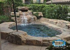Backyard Pool Landscaping, Backyard Pool Designs, Small Backyard Landscaping, Swimming Pool Designs, Backyard Waterfalls, Backyard Ideas, Pool Ideas, Landscaping Ideas, Small Swimming Pools