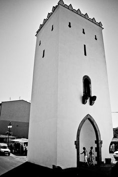 Wrobla (sparrow) tower in Otmuchow, Poland