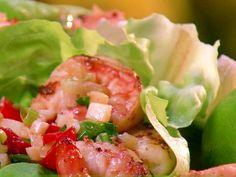 Lime Shrimp Lettuce Wraps recipe from Paula Deen via Food Network
