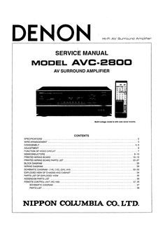 denon avr x1200w s710w a v receiver service manual and repair guide rh pinterest com denon avr 2800 user manual denon avr-2800 service manual
