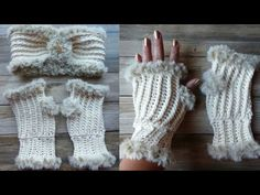 Beautiful elegant crochet fingerless mittens, free pattern and video tutorial! Make these cozy textured fingerless mittens with this easy to follow pattern. Crochet Mittens, Fingerless Mittens, Crochet Stitches, Crochet Baby, Knit Crochet, Yarn Bee, Front Post Double Crochet, Headband Pattern, How To Purl Knit