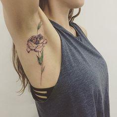 Diamond + flower  겨드랑이 2탄  Tattooist Hongdam   Seoul, Korea