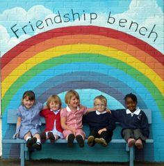 Have a friendship bench, to make a new friend, have a random chat, they can go and sit in a particular area.