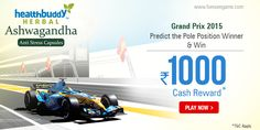 #Predict if #Rosberg or #Raikkonen will win the Pole Position in #GrandPrix on 24th May & win Rs. 1000 cash.
