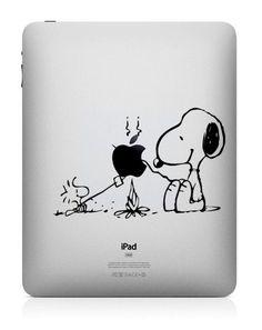 Snoopy  iPad Decal iPad 2 Stickers iPad Mini Decals by ellaseeing, $5.29
