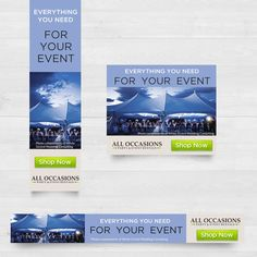 Wedding Rental Company Banner Ads - Fast Winner Selection by MotivatedDesign