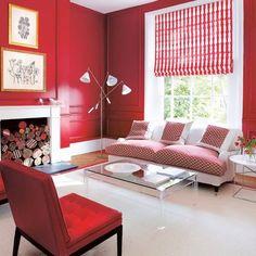 Sala moderna roja