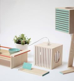 These box-shaped lamps might be the cutest light fixtures you've seen in a while! They come in a range of cheerful colours andare made entirely from reclaimed wood – making them stylish and sustainable.