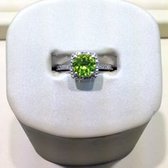 Sterling silver August birthstone peridot ring #silver #jewelry #peridot #august #birthstone