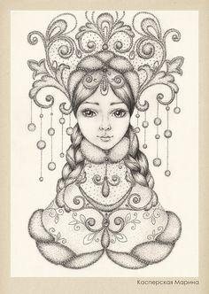 Иллюстрации / Касперская Марина / Снегурочка (дочь Мороза и Весны)
