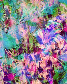 Waterfall - Tropical Print by Claire Buckley,