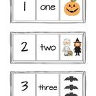 Free! Halloween Themed Number, Word, Picture cards (1-12)....could use as a fun matching game!    Cli...