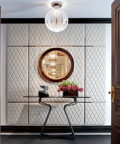 Home Decor Ideas selected 20 Luxury Wall Mirrors Designs for your Home. With these expensive mirrors, you'll get a luxury interior design without any effort. Apartment Interior Design, Luxury Interior Design, Best Interior, Interior Design Inspiration, Interior Styling, Upholstered Walls, Wall Design, Design Design, Design Trends