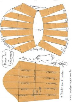 Transformação de mangas - Mend Tutorial and Ideas Sewing Dress, Sewing Sleeves, Dress Sewing Patterns, Sewing Clothes, Clothing Patterns, Diy Clothes, Pattern Drafting Tutorials, Sewing Tutorials, Sewing Projects