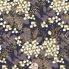 Navy Floral surfacepattern for interiors, home decor and textiles. #floraltextiles #surfacepatterndesign Homedecorprints #hometextiles #printdesign #floralillstration Pattern Designs, Surface Pattern Design, Patterns, Nature Illustration, Floral Illustrations, Floral Artwork, Artwork Prints, Creative Art, Creative Design