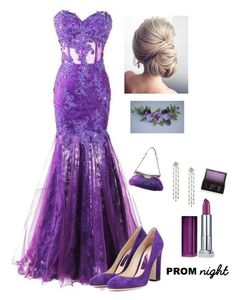 """""""Prom Night"""" by kotnourka ❤ liked on Polyvore featuring Jimmy Choo, Prada, Maybelline and Surratt"""