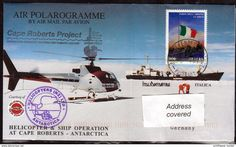 "ANTARCTIC,ITALIA,Exped. ""Cape Roberts Project"",Air Polarogramme,2 Cachets Heli-Flight + PAQUEBOT !! 27.3-29 - Spedizioni Antartiche"