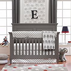 If you don't know whether you are expecting a boy or a girl, Liz and Roo's Gray Elephant Crib Bedding Collection is perfect for decorating your nursery in a gender-neutral way. Coordinate a modern nursery with luxurious-looking crib bedding.