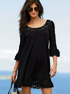 Black lace dress/cover-up