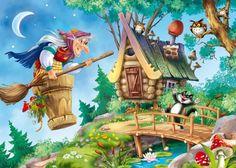 Тебякина Надежда- хозяйка прилетела! Decoupage, Christmas Jigsaw Puzzles, Caricature Drawing, Mushroom Art, Baba Yaga, Witch Art, Cute Little Things, Cartoon Art Styles, Magical Creatures