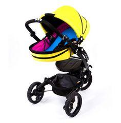 Bloom Baby Zen Stroller and Yoga Newborn Nest, in CMYK.