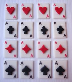 Fondant Cupcake Toppers - Playing Cards