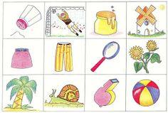 """Láminas de """"Ciceron"""" para trabajar los fonemasde la Editorial CEPE con anexo incluido donde nos aporta el vocabulario de dichas láminas. ..."""