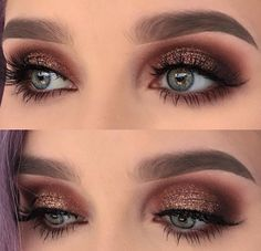 Glam up your looks with glitter via helenesjostedt Get your VENUS for 19 within the next 24 hrs no code needed Shop or link in bio 17029304828183906 Eye Makeup Glitter, Fall Makeup, Prom Makeup, Love Makeup, Makeup Inspo, Wedding Makeup, Makeup Inspiration, Smokey Eye With Glitter, Brown Glitter Eyeshadow