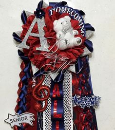 Benutzerdefinierte Petite Single Upgraded BAND Mama Homecoming Mama High School Freshman Sophomore Junior Senior Fußball Corsage Texas Mama Basketball - New Ideas Junior Senior, Softball, Texas Mums, Highschool Freshman, Secondary Color, Etsy Shipping, Music Bands, Accent Colors, 4th Of July Wreath