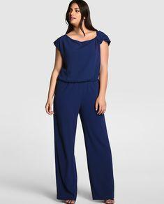 Mono de mujer tallas grandes Curvy Plus Size, Moda Plus Size, Plus Size Model, Fat Fashion, Curvy Fashion, Plus Fashion, Curvy Outfits, Plus Size Outfits, Plus Size Fashionista