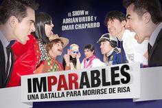 OCESA , se complace en anunciar una batalla épica en el Teatro Metropólitan en la que Adrián Uribe y Omar Chaparro se batirán en un duelo para morirse de risa.