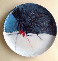 Omaggio a Emilio Scanavino 2 - Design,  30x30 cm ©2015 da CORRADO PELIGRA -                                              Espressionismo astratto, Ceramica, ceramica, espressionismo astratto, informale, contaminazioni postnoderne, citazioni da Emilio Scanavino