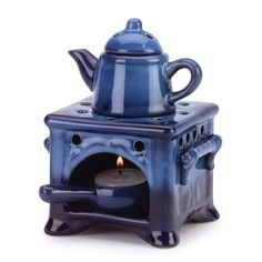 Country Kitchen Ceramic Kettle Stove Oven Oil Warmer Furniture Creations