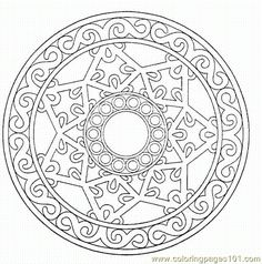 printable detailed mandala coloring pages pages mandalas 015 cartoons others