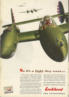 """at """"Lost Liver"""": WWII Lockheed aircraft ads..."""
