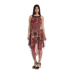 R&M Richards Women's Sheer Scarf Dress