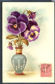 Résultats de recherche d'images pour «vintage pansies images»