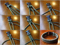 DIY dog collar: 2 strand weave