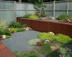 industrial style landscape design metal retaining walls  the metal that I love...