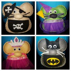 Raton guarda dientes Cat Mouse, Minnie Mouse, Felt Animals, Animals And Pets, Felt Crafts, Diy And Crafts, Felt Patterns, 12 Days Of Christmas, Tooth Fairy