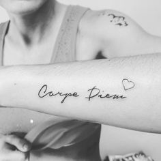 Carpe Diem Tattoo Designs to Seize the Day Spine Tattoo For Men, Spine Tattoos, Foot Tattoos, New Tattoos, Small Tattoos, Text Tattoo, Tattoo Fonts, Tattoo Designs And Meanings, Tattoos With Meaning
