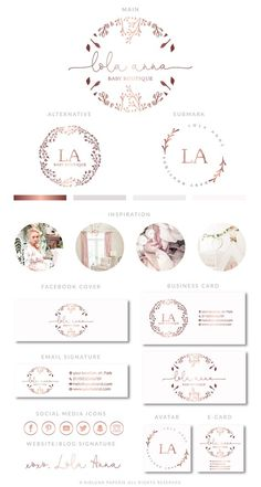 Find tips and tricks, amazing ideas for Fashion logo design. Discover and try out new things about Fashion logo design site Design Boutique, Logo Boutique, Baby Boutique, Logo Floral, Fashion Logo Design, Web Design, Branding Kit, Branding Design, Logo Inspiration