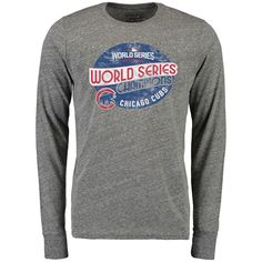 f205ea290c7 San Diego Padres Majestic Threads Road Wordmark Tri-Blend Long Sleeve T- Shirt - Heather Gray. Sports World Chicago