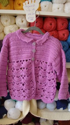 Crochet Little Girls Cardigan - This crochet pattern is available to purchase at The Knitting Room.