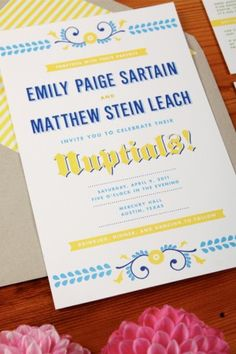 German Beer Wedding Invitations by The Creative Parasol