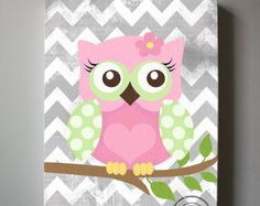 Cute Acrylic Owl Paintings On Canvas | My Wallpaper