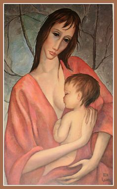"""Mother and Child"" ~ Margaret Keane"