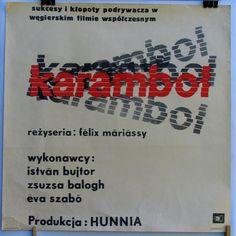 Karambol. Poster  Hungarian 1964s film by Félix by artwardrobe, $29.99