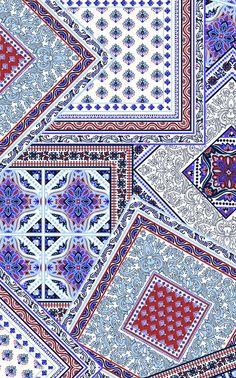Sarah Feinstein Ethnic Patterns, Textile Patterns, Textile Prints, Print Patterns, Japanese Patterns, Floral Patterns, Batik Pattern, Pattern Art, Paisley Pattern
